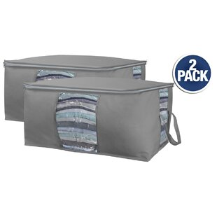 Buy luxury Canvas Underbed Storage Bag (Set of 2) By Rebrilliant