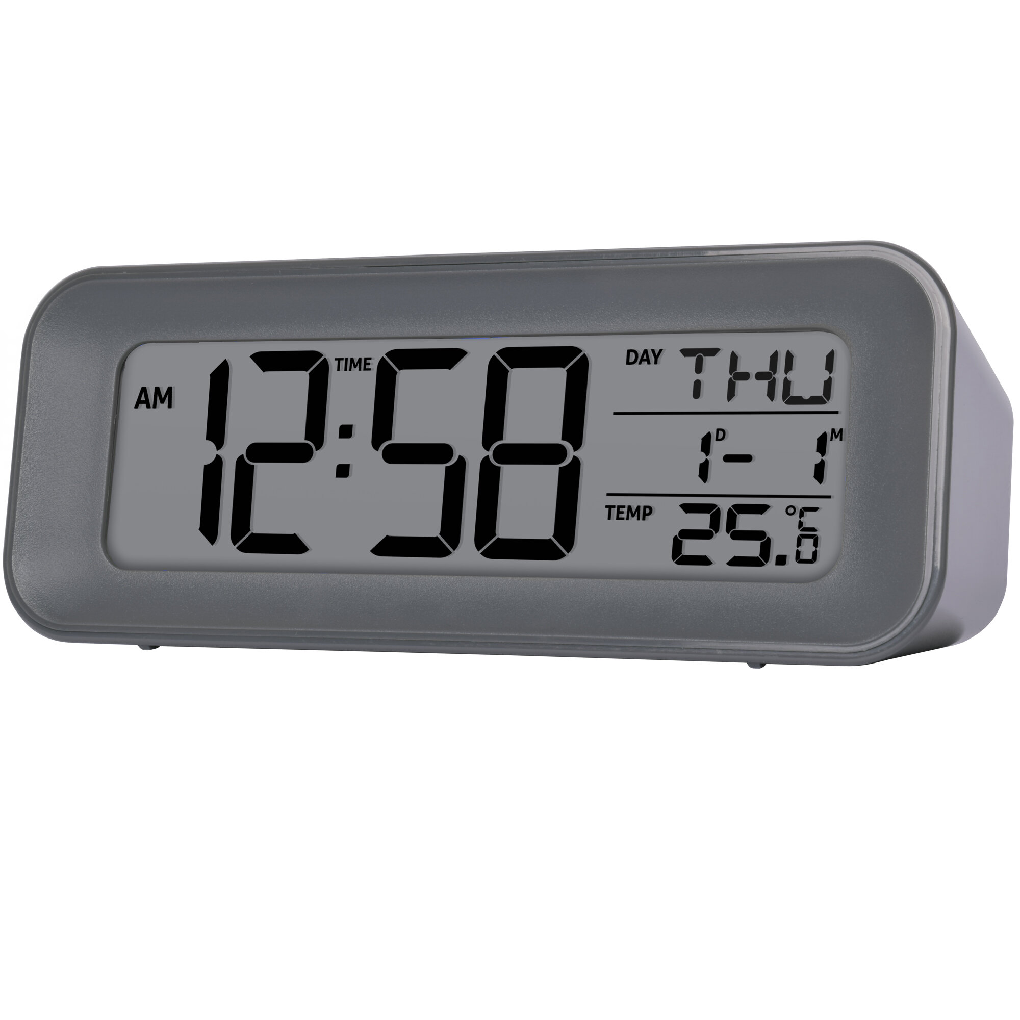 Mechanical Alarm Clock Retro Desktop Clock Round Metal Double Bell Desk Table Digital Clock Modern Home Decor Firm In Structure Home & Garden