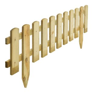 1.2m X 0.45m Picket Fence (Set Of 2) By Rowlinson
