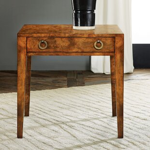 Mid Century End Table with Storage