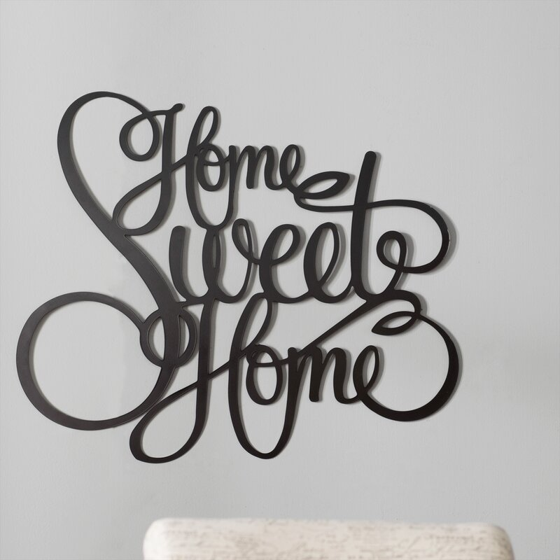 Red Barrel Studio Laser Engraved Home Sweet Home Wall Dcor
