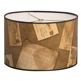 Vintage Letters Designer Hard Back 10 Paper Drum Lamp Shade