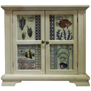 Ocean Fish and Shells Wooden 2 Door Accent Cabinet by ESSENTIAL D?COR & BEYOND, INC