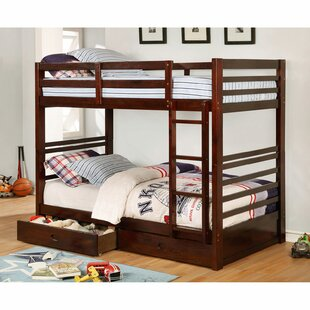 Adonide Twin Over Twin Bunk Bed with Drawers