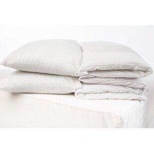 Hollowfibre 4.5 Tog Duvet And Pillow Set by Wayfair Basics