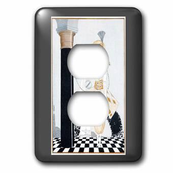 3drose Art Deco Dancers 1 Gang Duplex Outlet Wall Plate Wayfair
