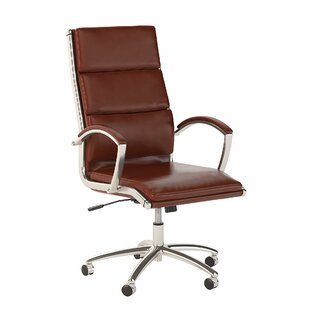 Bush Business Furniture Series C Elite High Back Leather Executive Office Chair in Harvest Cherry