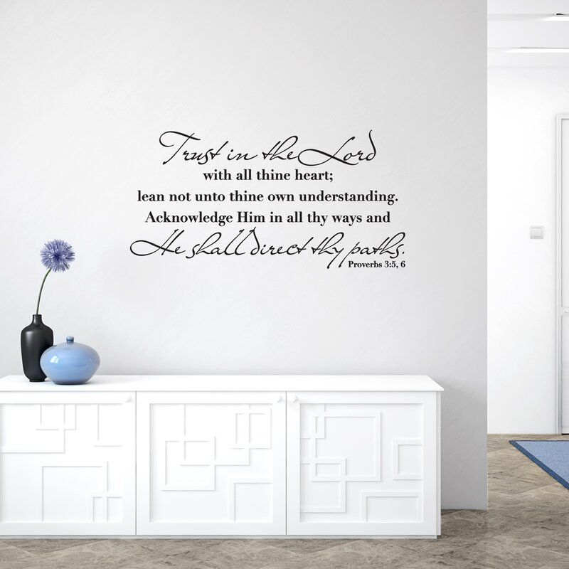 """TRUST IN THE LORD PROVERBS 3:5-6 VINYL DECAL HOME DECOR 30+COLORS 12/"""""""