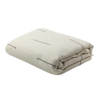 Novica Hand-Woven Cotton Zapotec Bedspread