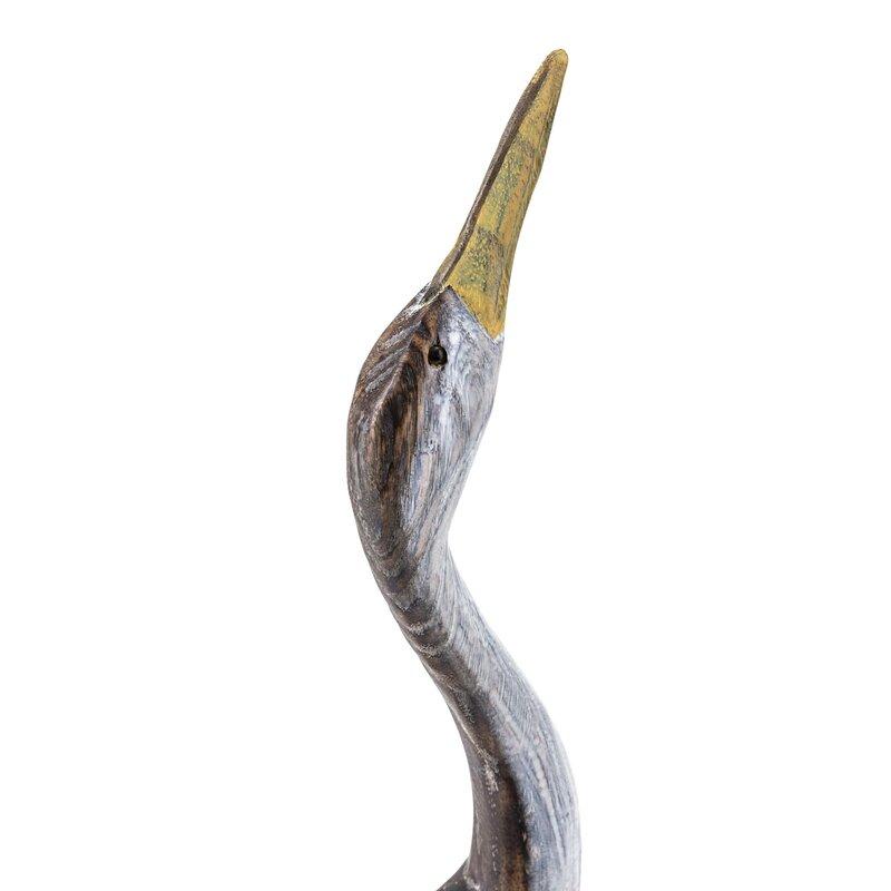 2 Piece Reeds Wood Cranes Statue Set Reviews Joss Main