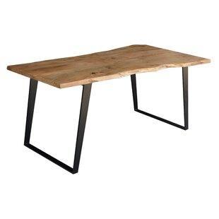 Emmeline Solid Wood Live Edge Dining Table by Millwood Pines Spacial Price