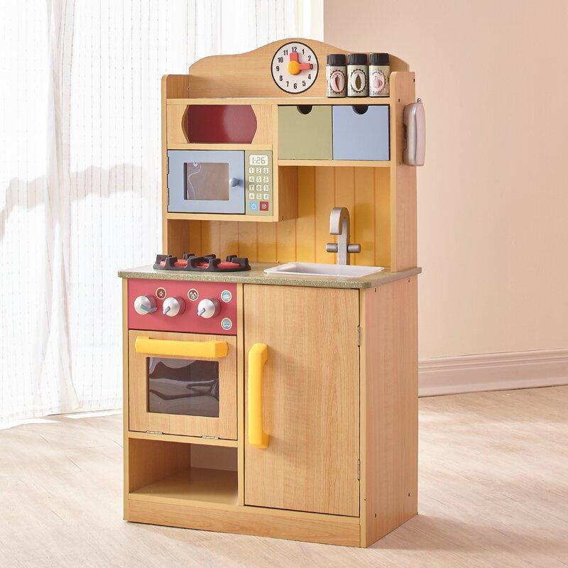 Play Kitchen Accessories teamson kids little chef wooden play kitchen with accessories