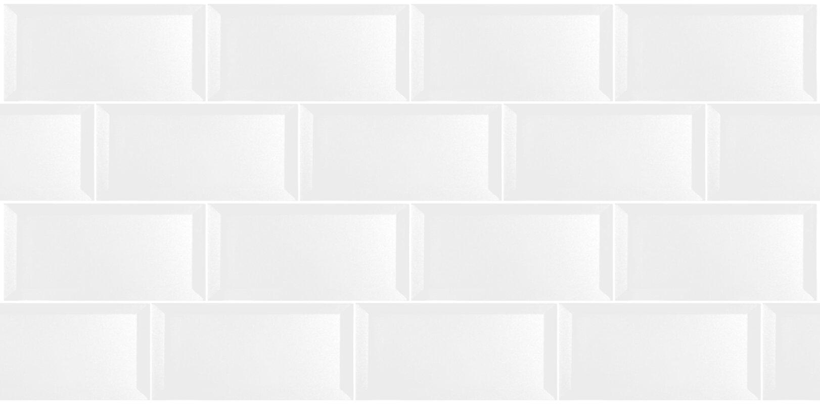 Abolos secret dimensions 3 x 6 glass subway tile in glossy white secret dimensions 3 x 6 glass subway tile in glossy white dailygadgetfo Gallery