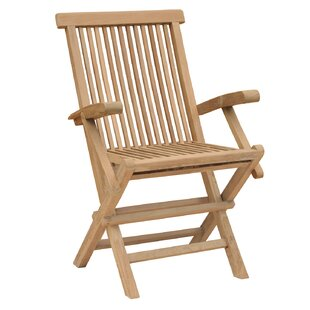 California Folding Teak Patio Dining Chair (Set of 2)