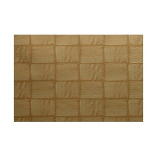 Ursa Geometric Print Gold Indoor/Outdoor Area Rug