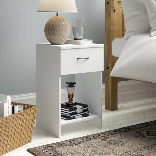 Nachttisch mit 1 Schublade | Schlafzimmer > Nachttische | Weiß | ClearAmbient