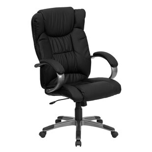 Personalized High-Back Leather Executive Office Chair by Flash Furniture