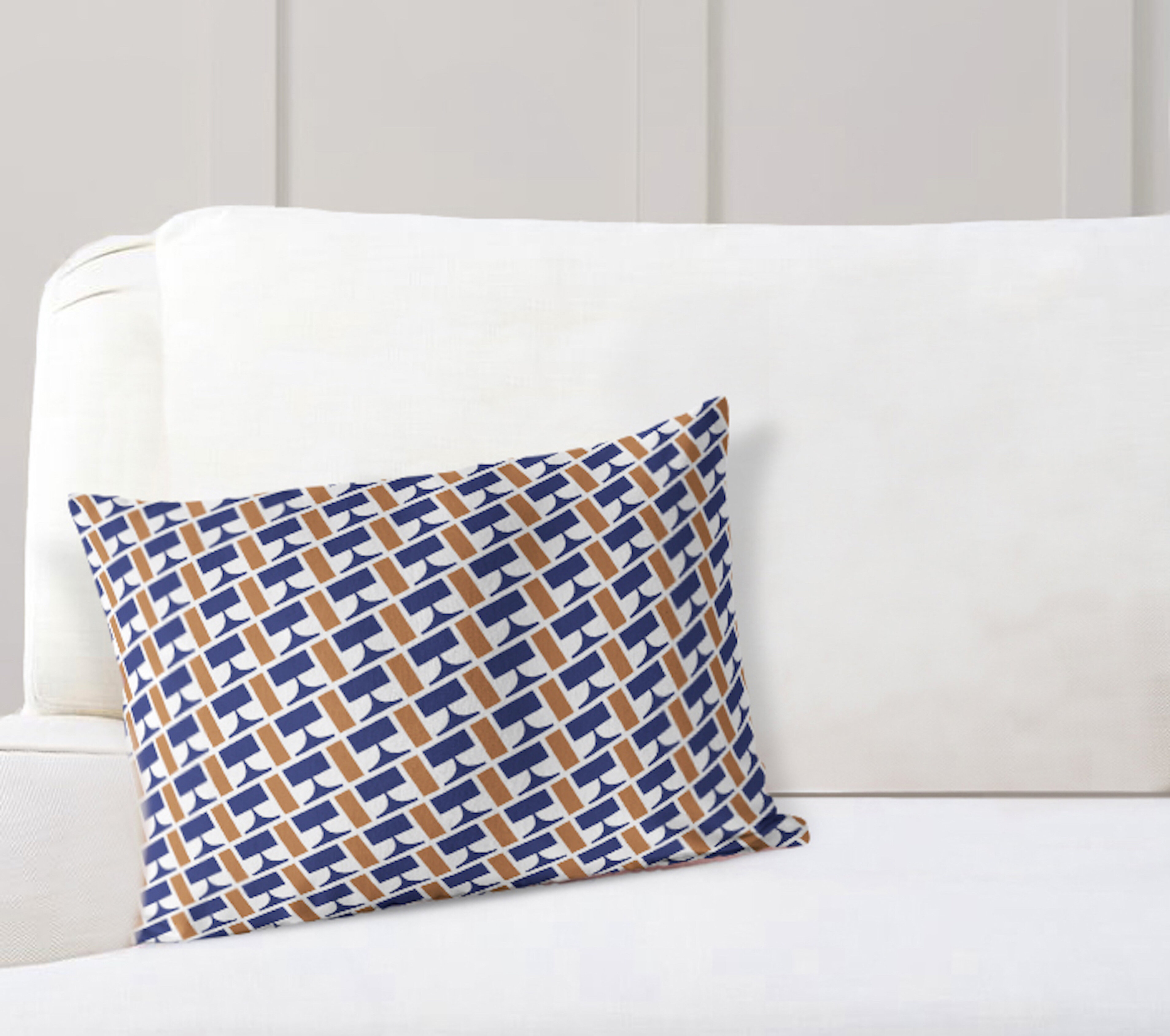 Elle Decor Weave Cotton Geometric Lumbar Pillow Wayfair