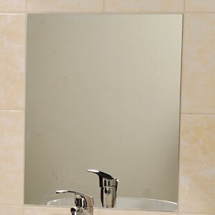 Mirrorfina Adhesive Rectangular Decorative Bathroom Wall Mirror