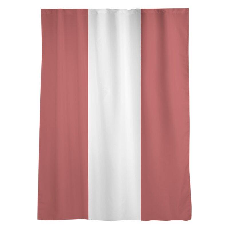 East Urban Home La Warrior College Stripes Sheer Rod Pocket Single Curtain Panel Wayfair