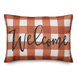 Vestavia Welcome Plaid Lumbar Pillow