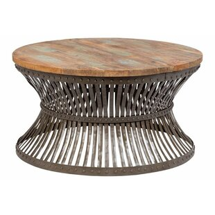 Eakes Distressed Industrial Metal Coffee Table