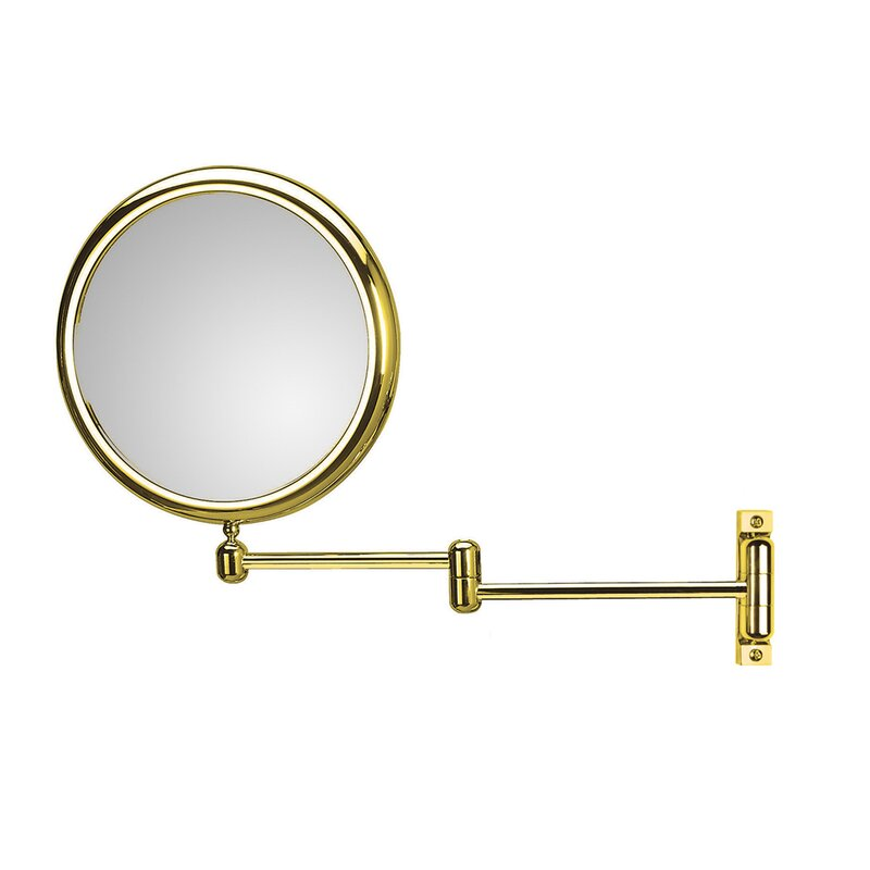 WS Bath Collections Doppiolo Double Arm 3X Magnifying Makeup / Shaving Mirror