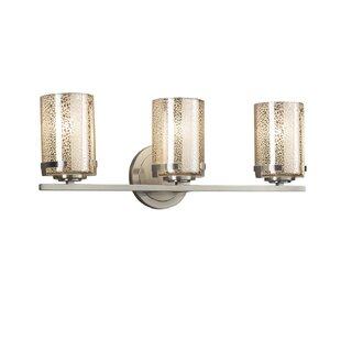 Brayden Studio Luzerne 3-Light Mercury Shade Vanity Light
