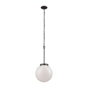 Saskia 1-Light Globe Pendant by Breakwater Bay