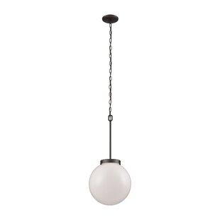 Saskia 1-Light Globe Pendant by Breakwate..