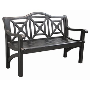 Concord Cast Aluminum Camelback Park Bench by Innova Hearth and Home