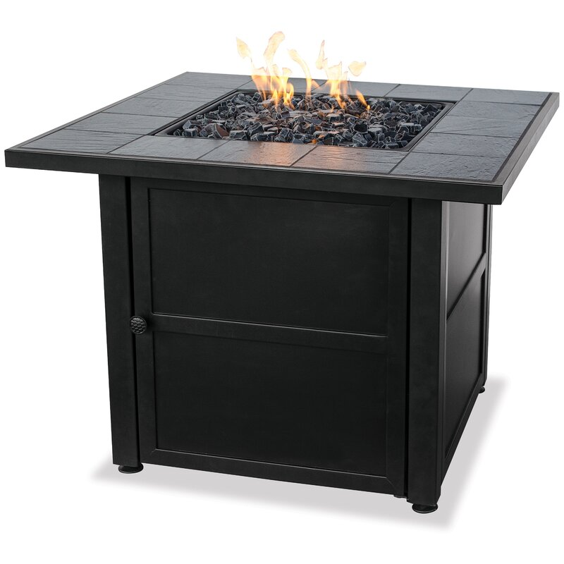 Good Uniflame Ceramic Tile LP Gas Fire Pit Table