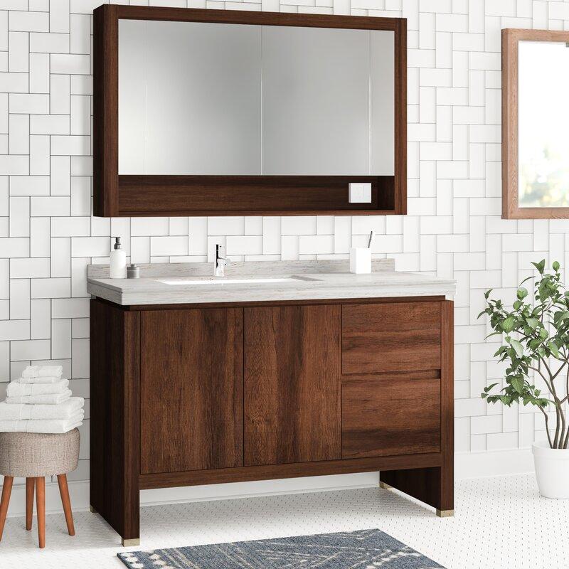 Foundstone Ferris 48 Single Bathroom Vanity Set With Mirror Wayfair