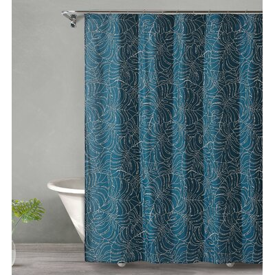 Bay Isle Home Dorrington Tropical Midnight Cotton Single Shower Curtain