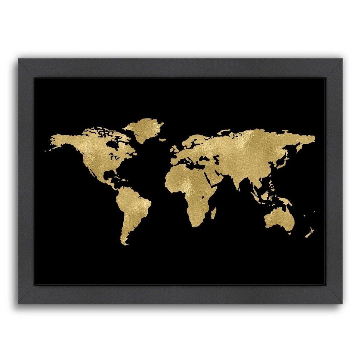 Mercer41 World Map Framed Graphic Art | Wayfair