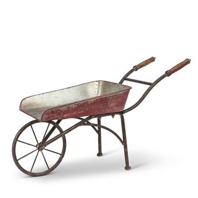 Gracie Oaks Lacroix Metal Wheelbarrow Planter