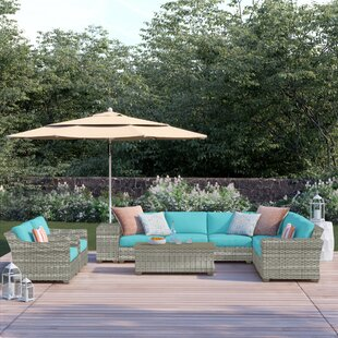 Falmouth 11 Piece Sectional Seating Group With Cushions by Sol 72 Outdoor Top Reviews