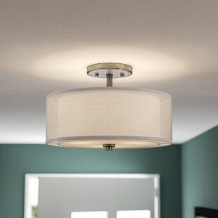 Demby 3-Light Semi Flush Mount by Ebern Designs