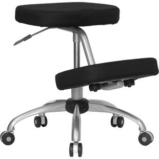 Woodrum Mobile Height Adjustable Kneeling Chair with Dual Wheel