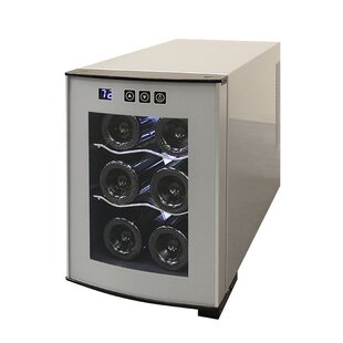 6 Bottle Single Zone Freestanding Wine Cooler by Vinotemp