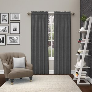 Kenda Solid Semi Sheer Rod Pocket Curtain Panels Set Of 2