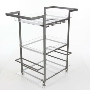 Austin Metal Acrylic Bar Cart by Orren..