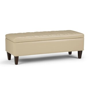 Laforce Faux Leather Storage Bench by Millwood Pines