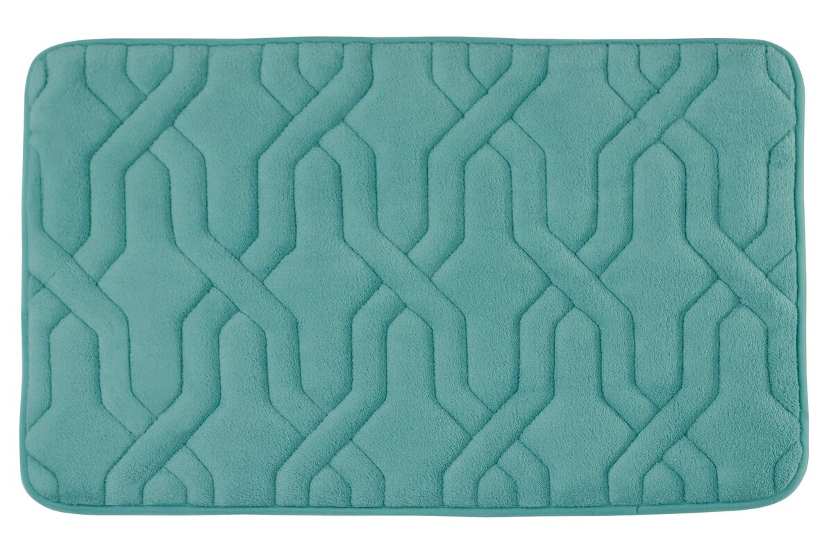 Nylon Blue Bath Rugs Lush
