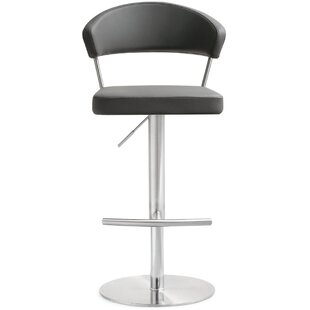 Turnhouse Steel Adjustable Height Bar Stool by Orren Ellis