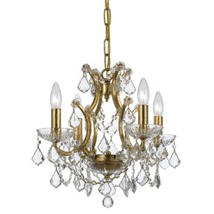 Maira 4-Light Candle Style Chandelier by House of Hampton