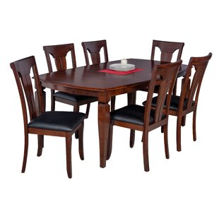 Red Barrel Studio Besse 7 Piece Dining Set with Curved Back Chair