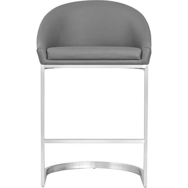Fantastic Modern Contemporary Brushed Stainless Bar Stools Allmodern Bralicious Painted Fabric Chair Ideas Braliciousco