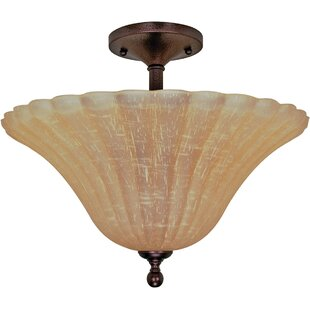 Saybrook 3-Light Semi Flush Mount by Bay Isle Home