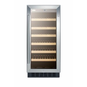 Summit 15-inch 33 Bottle Single Zone Built-In Wine Cooler by Summit Appliance